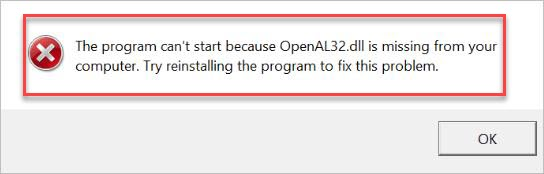 How To Fix OpenAL32.dll Missing Error