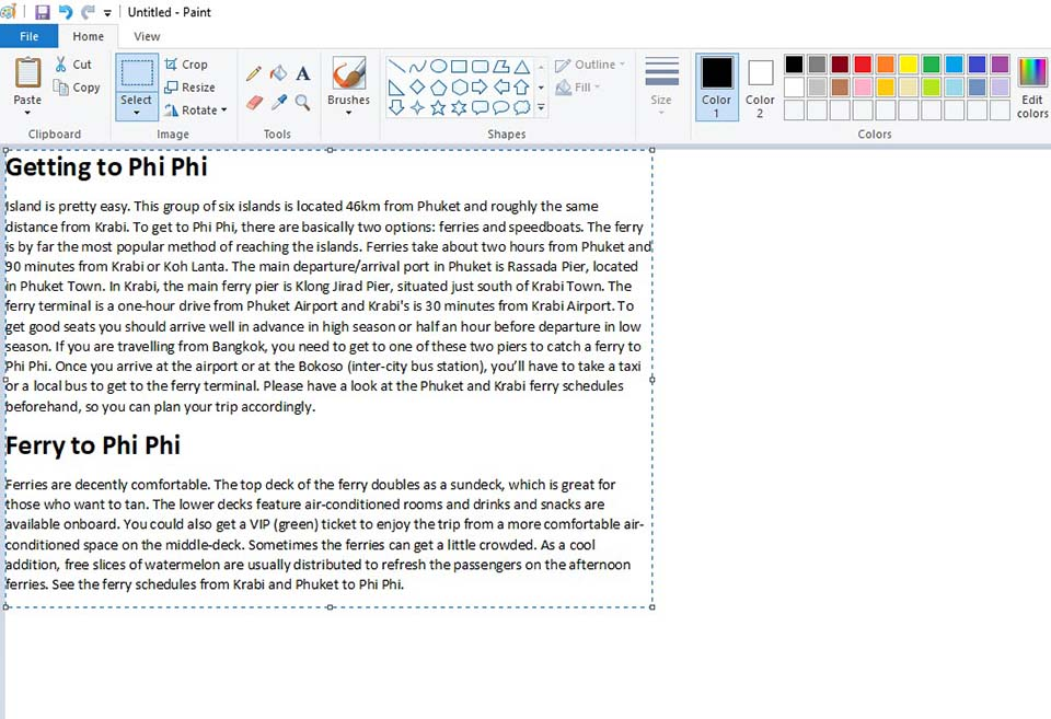 Save a Word Doc as an Image Using Microsoft Paint - 2