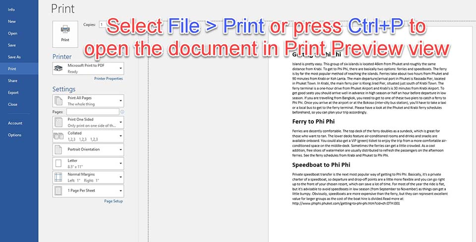 Save Word document as JPEG Using the Windows Snipping Tool - 1