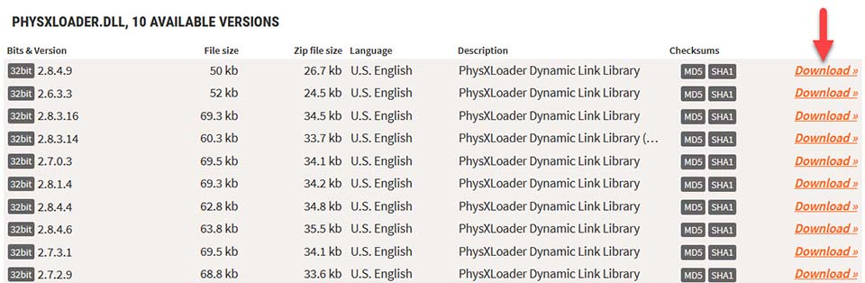 FIX: PhysXloader.dll Is Missing or Not Found