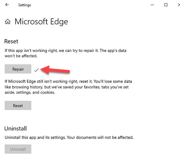 How To Repair Microsoft Edge In Windows 10 - Step 02