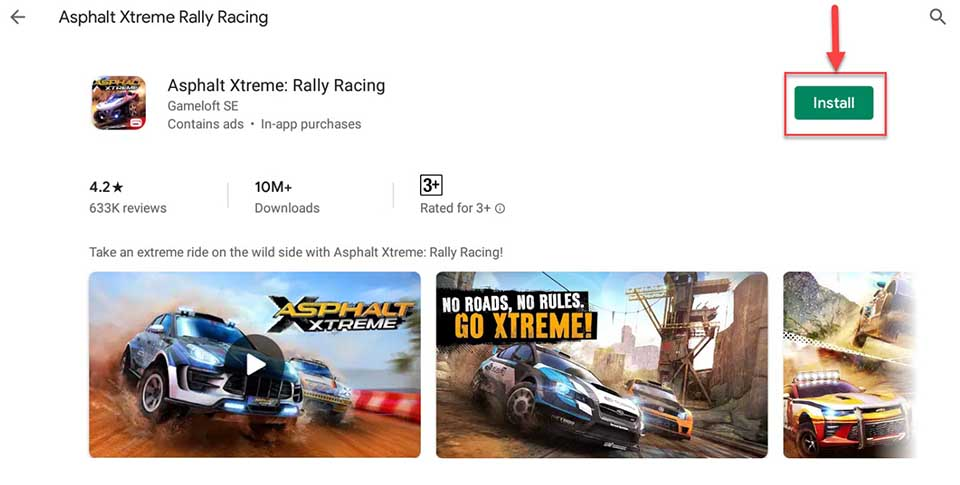Download and Install Asphalt Xtreme For PC (Windows 10/8/7 and Mac)