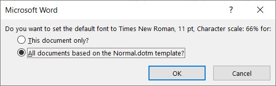 How To Change The Default Font in Microsoft Word 2019 - step03