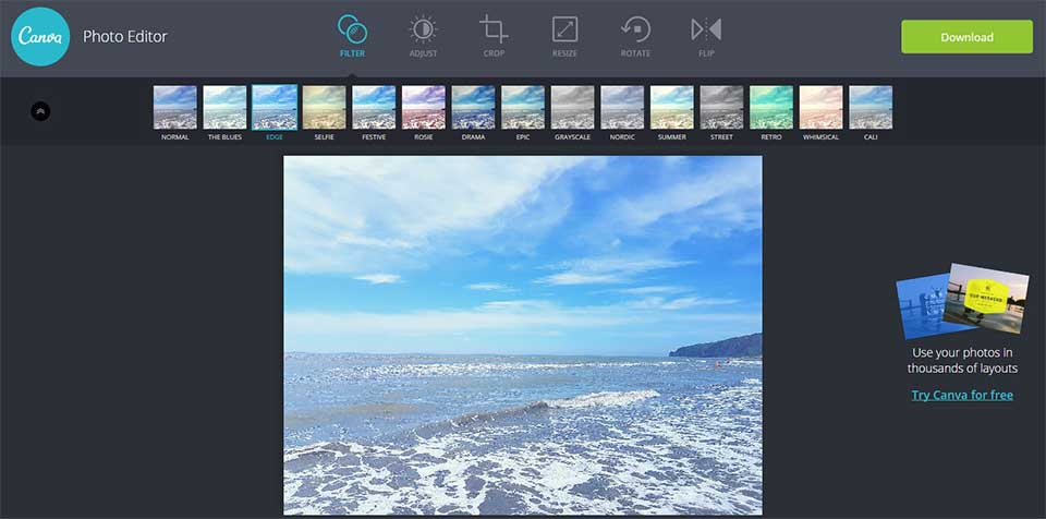 Canva photo editor for PC