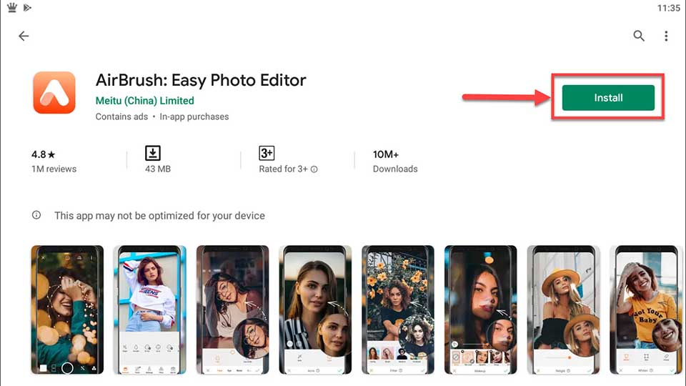 Download and Install AirBrush Easy Photo Editor For PC (Windows 10/8/7 and Mac)