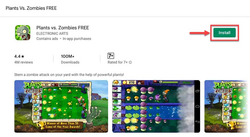 Download and Install Plants vs Zombies For PC (Windows 10/8/7 and Mac)