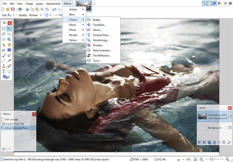PaintNet photo editor for PC