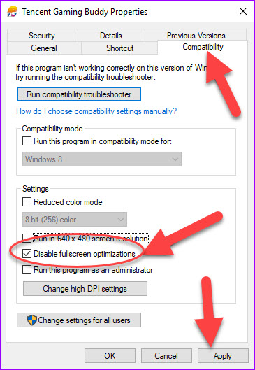 How To Disable Fullscreen Optimization In Windows 10 Windows 10