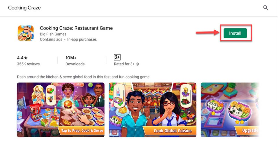 Download and Install Cooking Craze - Restaurant Game For PC (Windows 10/8/7 and Mac)