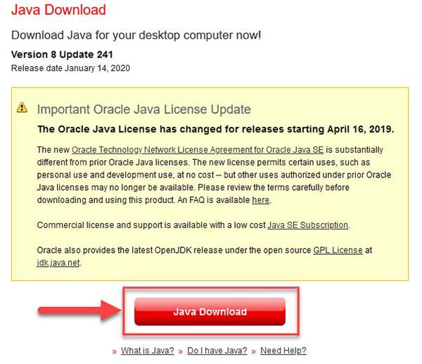 Download Java for Minecraft