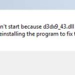 How To Fix d3dx9_43.dll missing in Windows 10/8/7
