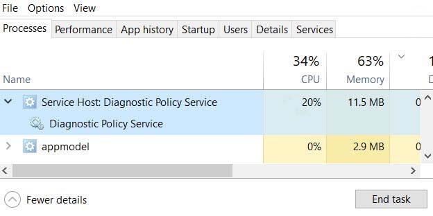 FIX: Service Host: Diagnostic Policy Service High CPU Usage In Windows 10