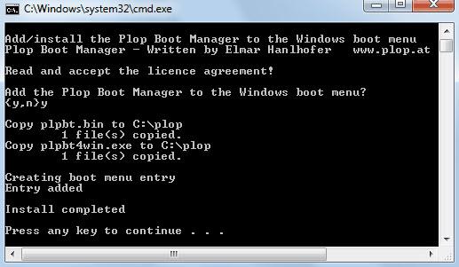 Adding Plop to the Windows Boot Menu - 02