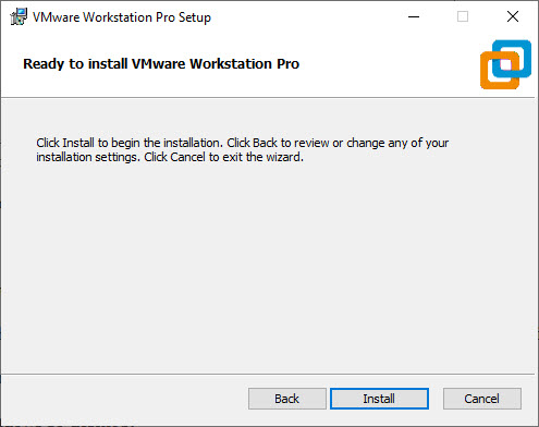 Ready to Install VMware Workstation Pro 15 in Windows 10