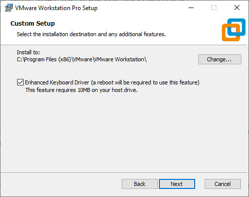 VMware Workstation 15 Pro Installation – Choose Installation Folder