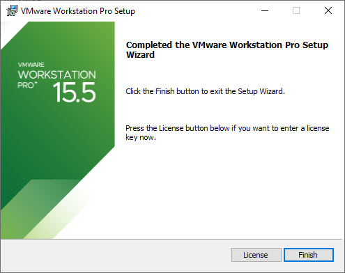 VMware Workstation 15 Pro Installation – Installation Complete