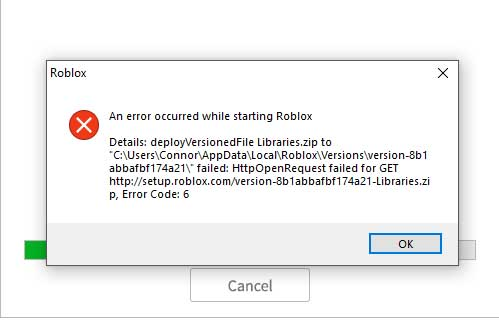 An Error Occurred While Starting Roblox How To Fix Windows 10