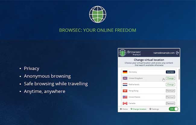 Browsec VPN - Free and Unlimited VPN - Google Chrome