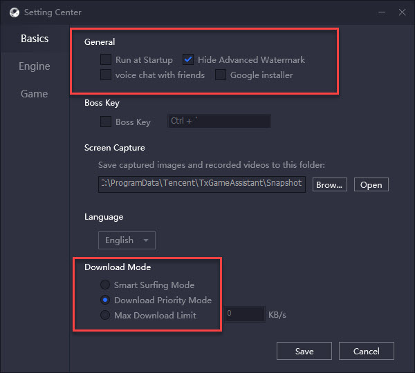 Gameloop Basic Settings
