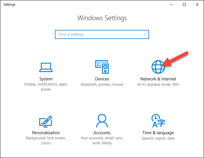 How to Create a WiFi Hotspot in Windows 10 - step 1