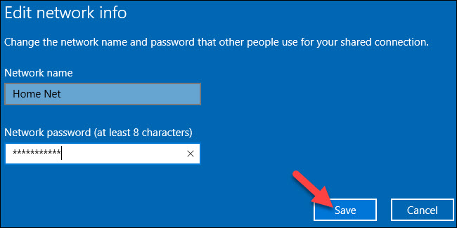 How to Create a WiFi Hotspot in Windows 10 - step 3