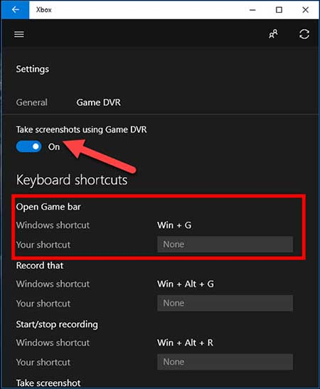 How to take a screenshot on Windows 10 with the Game Bar