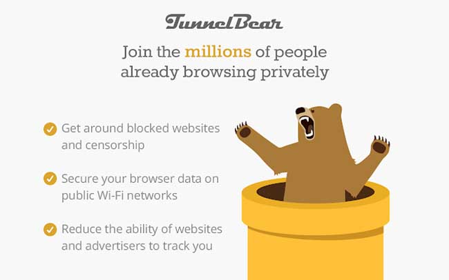 TunnelBear Extension VPN for Chrome
