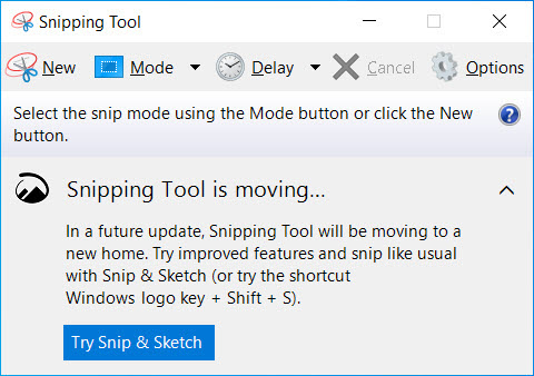 Use Snipping tool To Take a custom screenshot
