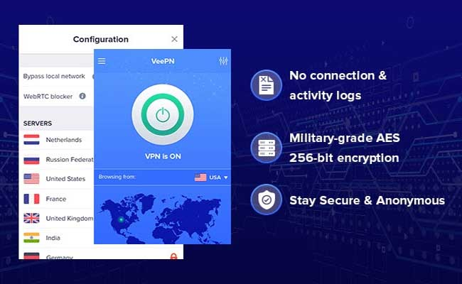 VeePN - Unlimited Free & Fast Security VPN - Google Chrome