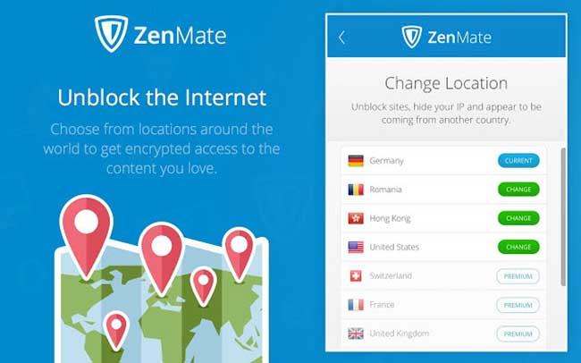 ZenMate Free VPN – Best VPN for Chrome