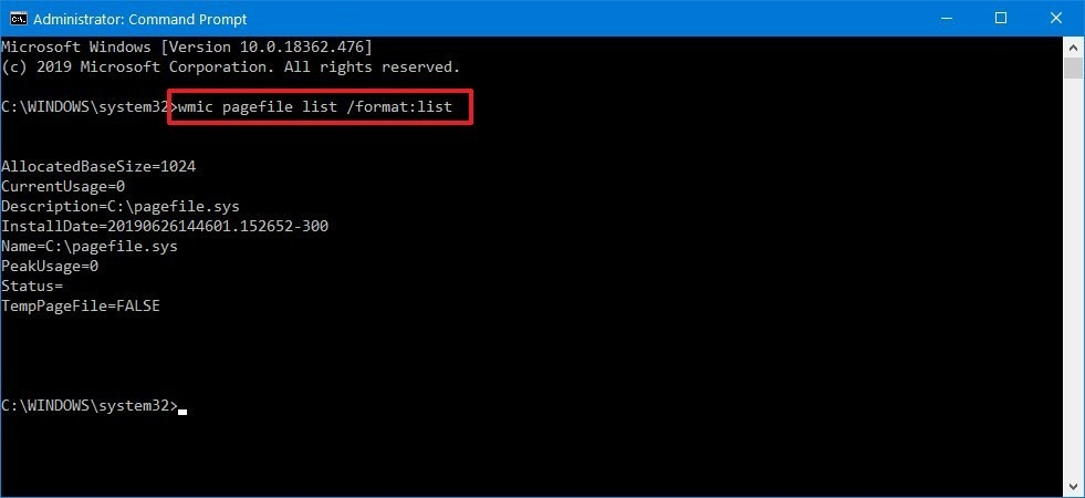 How to increase virtual memory using Command Prompt - 1