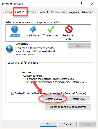 Your current security settings do not allow this file to be downloaded - 3