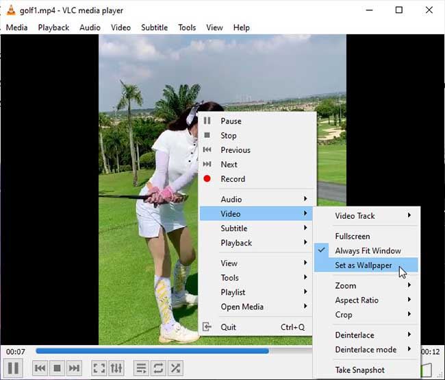 How to set Video as Wallpaper using VLC