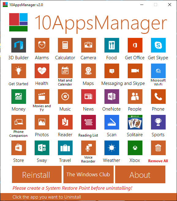 10AppsManager for Windows 10