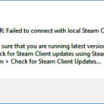 FIX: Steam failed to connect with local steam client